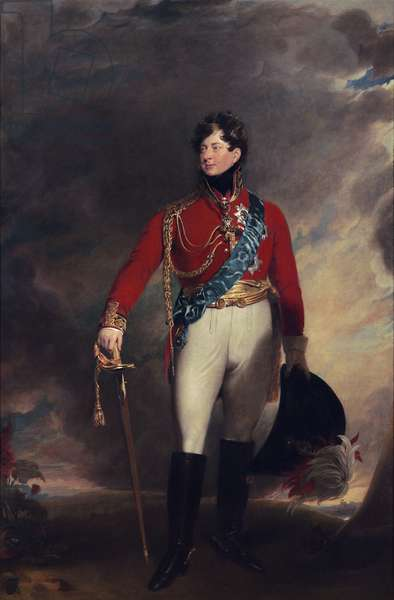 Portrait of King George IV (oil on canvas)