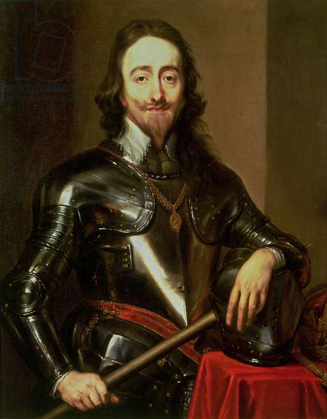 Portrait of King Charles I (1600-49) (oil on canvas)