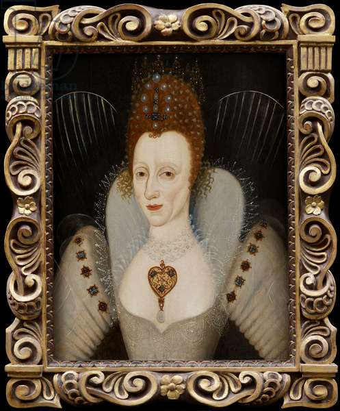 Portrait of Queen Elizabeth I, c.1600 (oil on panel (baltic oak))