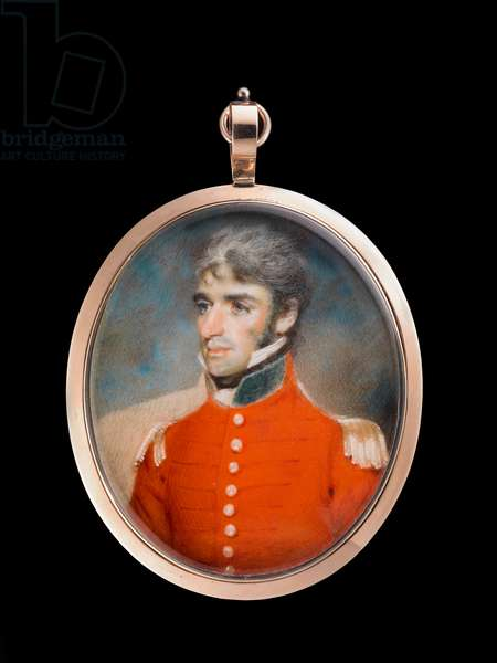 An officer of field rank, or a staff officer, probably of the East India Company's land forces, in undress uniform (w/c on ivory)
