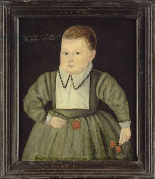 Portrait of a three year old boy, 1596 (oil on panel)