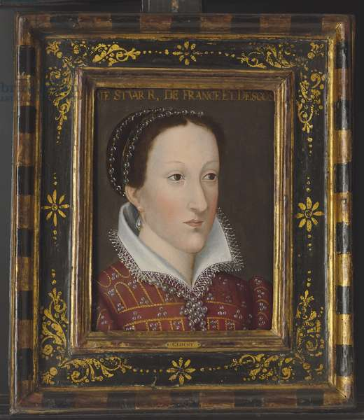 Portrait of Mary Queen of Scots (oil on panel)
