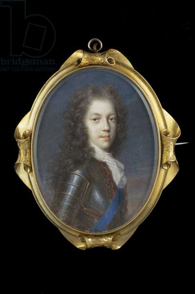 Portrait of Prince James Stuart (w/c on paper laid on card)