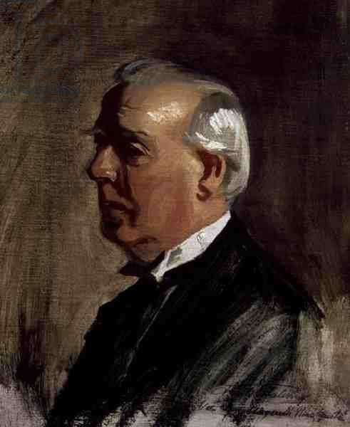 Portrait of Herbert Asquith (1881-1947) (oil on canvas)
