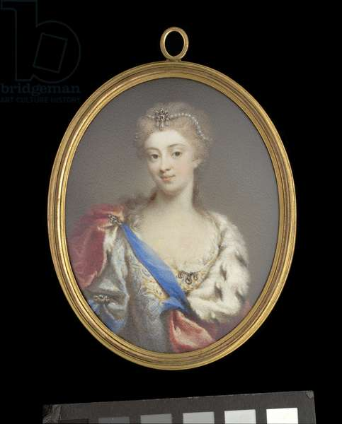 Portrait of Princess Maria Cosimire Clementina Sobieska, c.1725 (gouache on ivory)