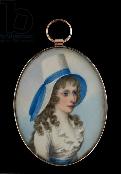 Portrait miniature of a young lady (w/c on ivory)