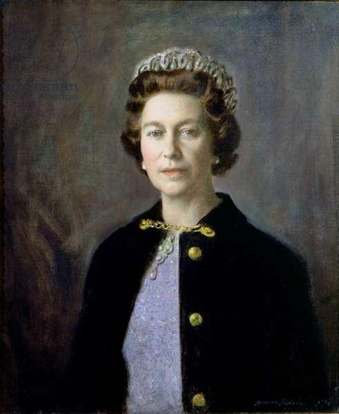 Portrait of Her Majesty Queen Elizabeth II (b.1926), 1974 (oil on panel)
