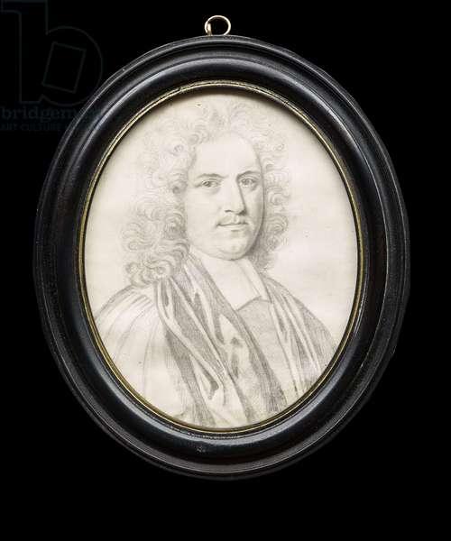 Portrait of John Harris, c.1703 (graphite on vellum)