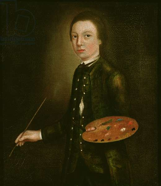 Self Portrait as a Boy, c.1739 (oil on paper on canvas)