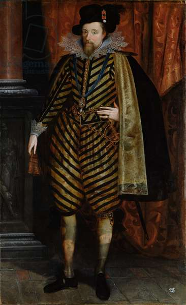 Portrait of James VI of Scotland, James I of England, c.1619 (oil on canvas)