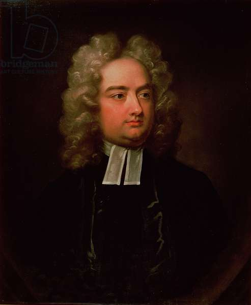 Study Portrait of Jonathan Swift (1667-1745) (oil on canvas)