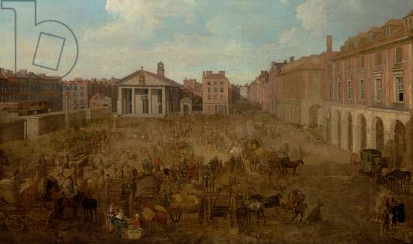 A View of Covent Garden, from the Artist's Studio (oil on canvas)