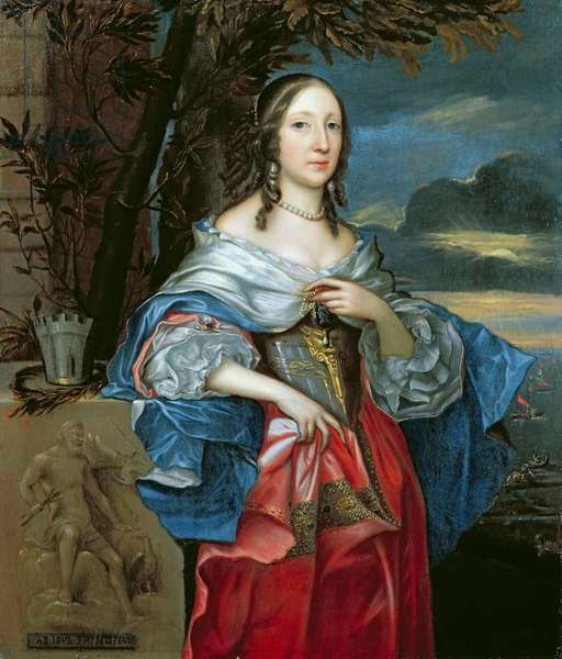 Elizabeth Cromwell, Mrs Claypole (1629-58) 1658 (oil on panel)