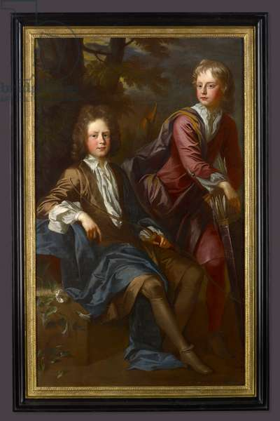 Portrait of George and Thomas Dashwood (oil on canvas)