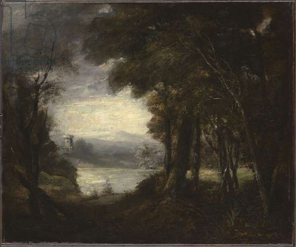 An Opening in the Woods, 1770s (oil on canvas)
