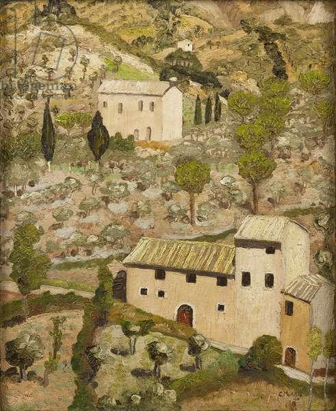 An Italian Landscape, 1922 (oil on canvas)