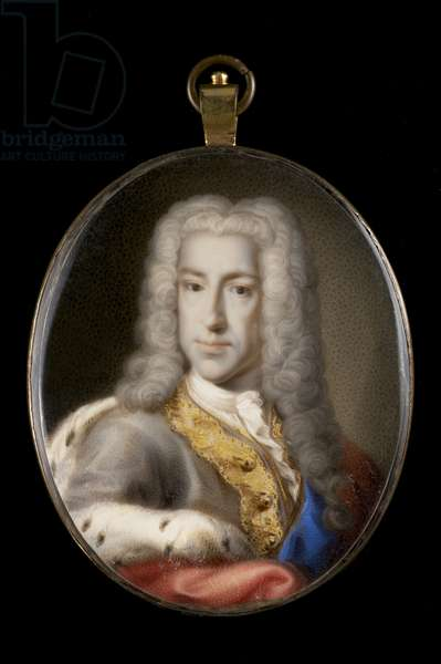 Portrait of Prince James Stuart (w/c with bodycolour on ivory)