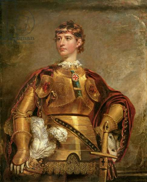 Portrait of King Henry V (1387-1422) (oil on canvas)
