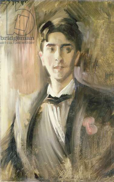 Portrait of Jean Cocteau (1889-1963) (oil on canvas)