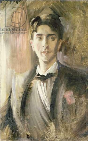 Portrait of Jean Cocteau (1889-1963) (oil on canvas)