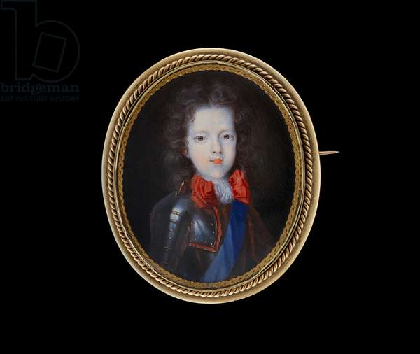 James Francis Edward Stuart, as a child, wearing armour, c.1705 (w/c on vellum laid on to card)
