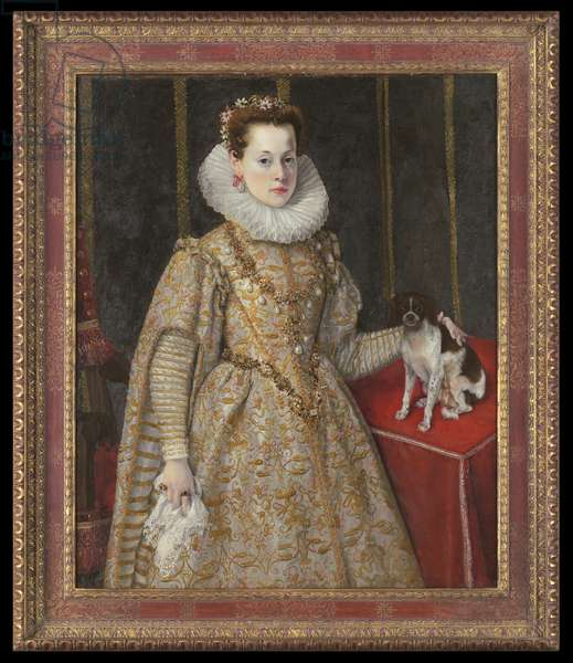 Portrait of Margherita of Savoy (oil on canvas)