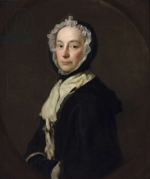 Portrait of Mrs Morris, widow of Colonel Morris of Purcefield Park, 1750 (oil on canvas)