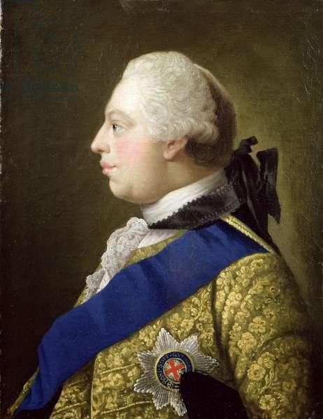 Portrait of George III (1738-1820) (oil on canvas)