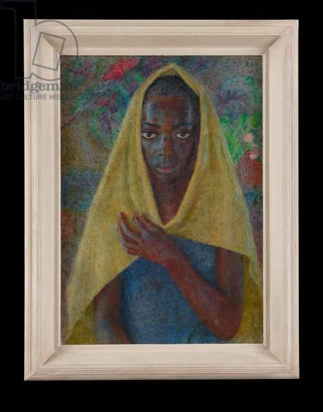 Girl in a Yellow Shawl, 1956 (oil on canvas)