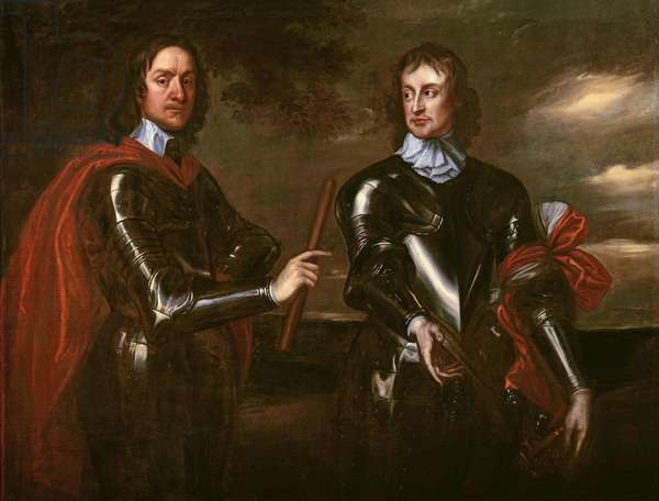 Oliver Cromwell and Henry Lambert, c.1650 (oil on canvas)