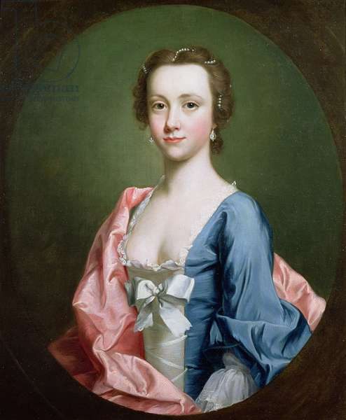 Portrait of a lady, traditionally said to be Jenny Cameron of Lochiel (oil on canvas)