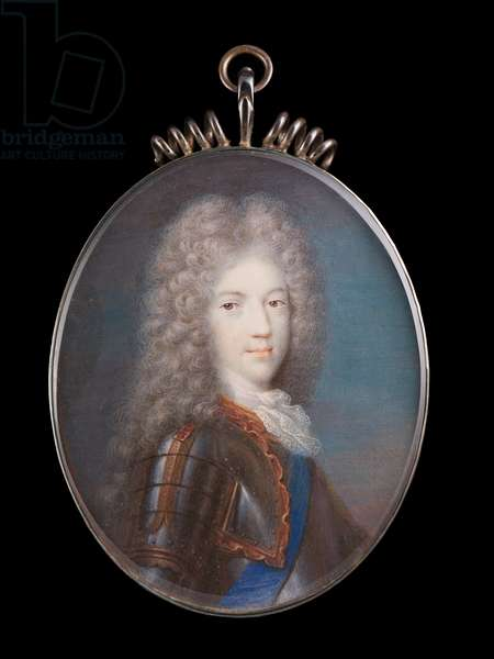 Portrait of Prince James Francis Edward Stuart, the Old Pretender, 1702 (w/c on vellum)