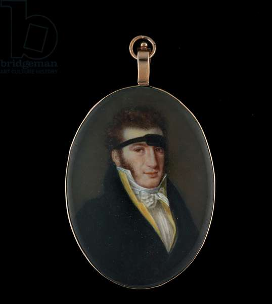 Portrait miniature of a Gentleman wearing a support, c.1816 (w/c on ivory)