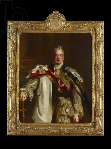 Portrait of King William IV, wearing the Robes of the Garter, c.1831 (oil on canvas)