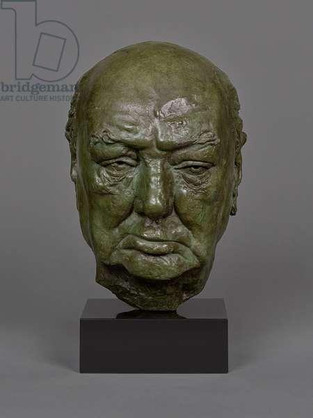 Portrait head of Sir Winston Churchill (The Rocquebrune Head), 1958 (bronze)