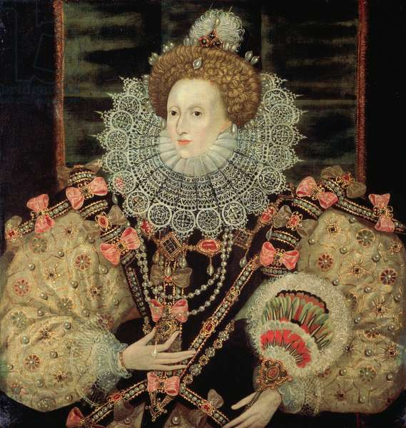 Portrait of Queen Elizabeth I - The Armada Portrait (oil on canvas)