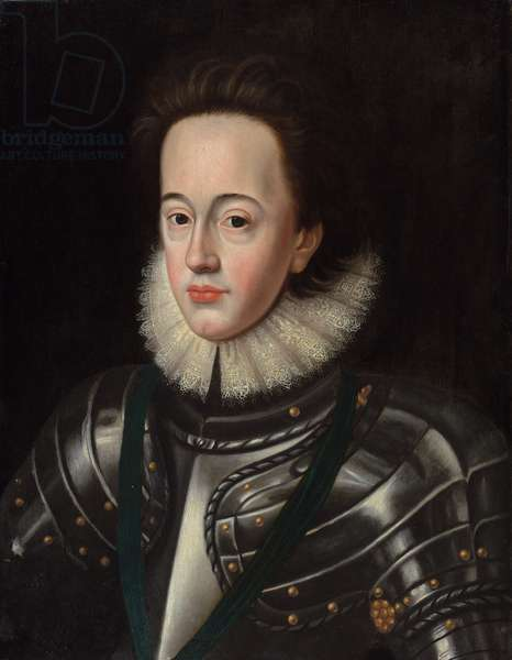 Portrait of Charles I, when Prince of Wales (oil on panel)