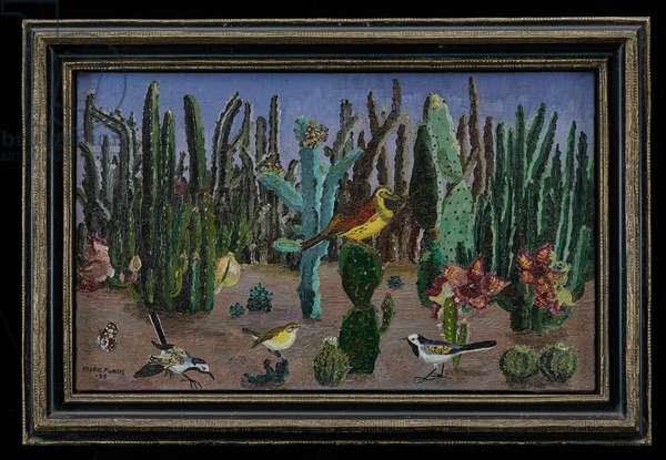 Birds Among Cacti, 1928 (oil on canvas)