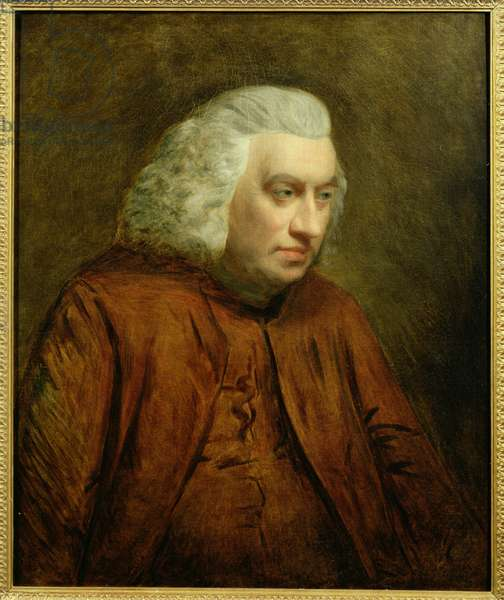 Portrait of Dr Samuel Johnson (1709-84), c.1783 (oil on canvas)