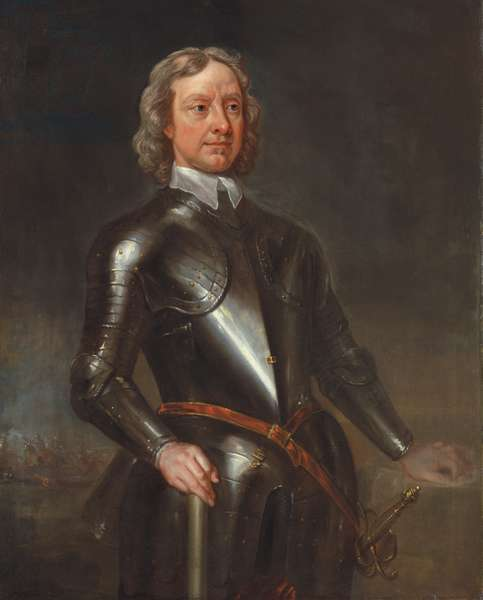 Portrait of Oliver Cronwell, Lord Protector (oil on canvas)