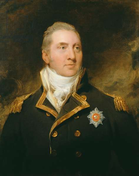 Portrait of Admiral Sir Edward Pellew, later 1st Viscount Exmouth (1757-1833), c.1810 (oil on canvas)