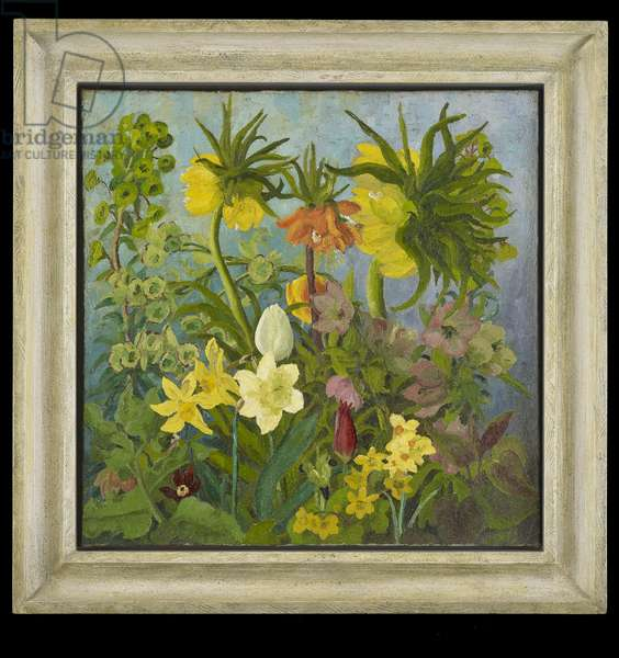 Fritillaries and Tulips, 1934 (oil on canvas)
