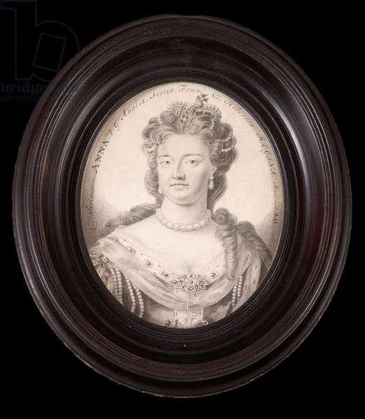 Plumbago Portrait of Queen Anne (graphite on vellum)
