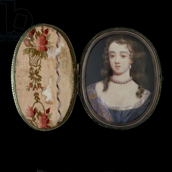 A Lady, probably Elizabeth, Duchess of Montagu when Countess of Northumberland (w/c on vellum)