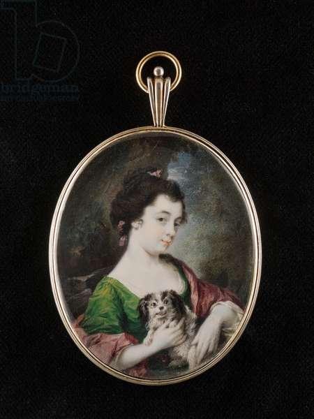Portrait miniature of Catherine Maria (Kitty) Fisher (w/c on ivory)