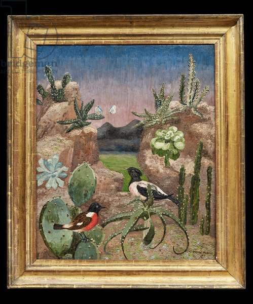 Birds and Cacti, 1927 (oil on canvas)