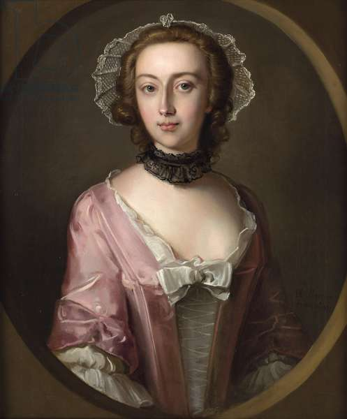 Portrait of Louisa Balfour, 1751 (oil on canvas)