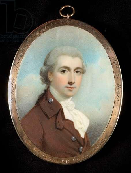 Portrait Miniature of the Hon. Hercules Langford Taylor, c.1790 (w/c on ivory)