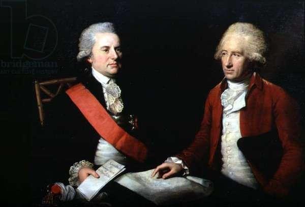 Portrait of George, 1st Earl MacCartney (1737-1806) and his secretary Sir George Leonard Staunton (1737-1801) c.1792