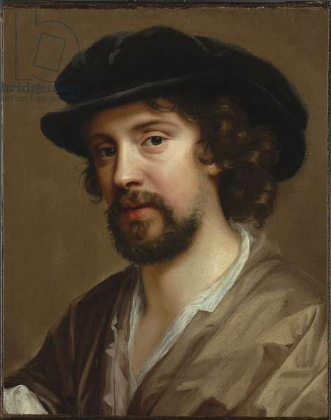 Portrait of the artist's husband, Charles Beale in a black hat (oil on canvas)